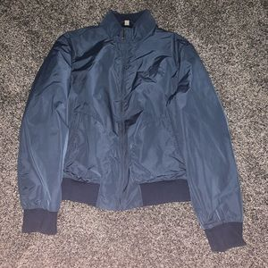 Burberry Brit men's L blue bomber jacket